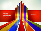 Business Concepts: Modèle PowerPoint de flèches de croissance #11009
