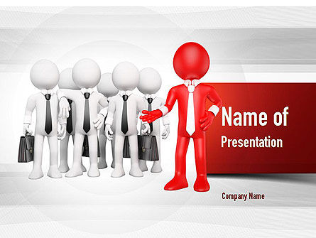 Business Work Team PowerPoint Template, 11010, Business — PoweredTemplate.com