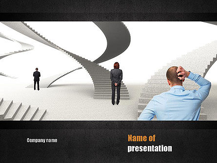 Education & Training: Stairway To Solution PowerPoint Template #11013