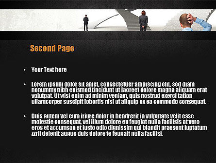 Stairway To Solution PowerPoint Template, Slide 2, 11013, Education & Training — PoweredTemplate.com