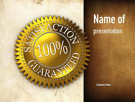 Satisfaction Guaranteed PowerPoint Template, 11014, Business Concepts — PoweredTemplate.com