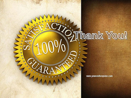 Satisfaction Guaranteed PowerPoint Template Slide 20