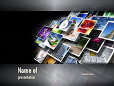Technology and Science: Media Stream PowerPoint Template #11015