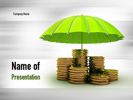 Financial/Accounting: Protected Savings PowerPoint Template #11016