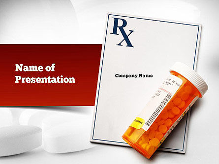 Prescription Drugs RX PowerPoint Template, 11020, Medical — PoweredTemplate.com