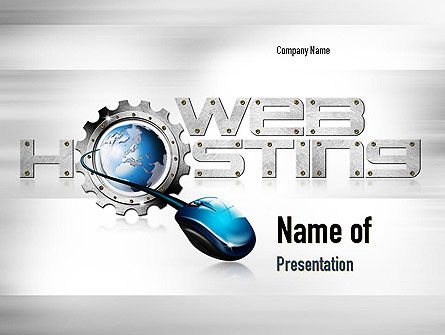 Web Hosting Theme PowerPoint Template, 11022, Careers/Industry — PoweredTemplate.com