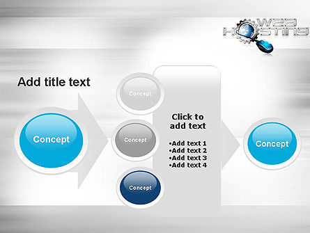 Web Hosting Theme PowerPoint Template Slide 17