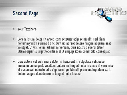 Web Hosting Theme PowerPoint Template, Slide 2, 11022, Careers/Industry — PoweredTemplate.com