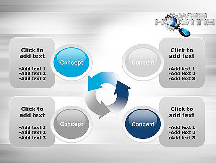 Web Hosting Theme PowerPoint Template Slide 9