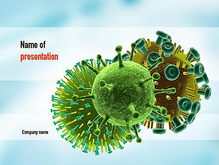 HIV Virus PowerPoint Template, 11023, Medical — PoweredTemplate.com