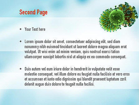 HIV Virus PowerPoint Template, Slide 2, 11023, Medical — PoweredTemplate.com
