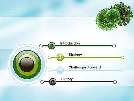 HIV Virus PowerPoint Template, Slide 3, 11023, Medical — PoweredTemplate.com