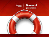 Careers/Industry: Lifebuoy PowerPoint Template #11028