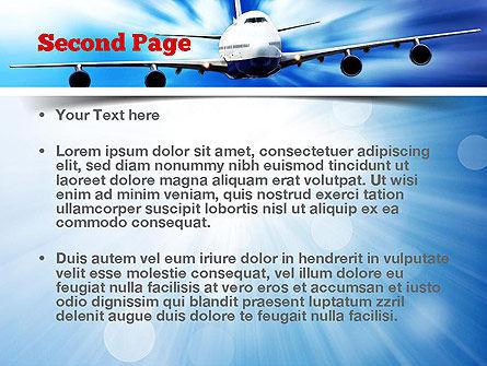 Jet Aircraft PowerPoint Template, Slide 2, 11030, Cars and Transportation — PoweredTemplate.com