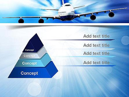 Jet Aircraft PowerPoint Template, Slide 4, 11030, Cars and Transportation — PoweredTemplate.com
