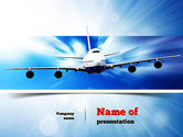 Cars and Transportation: Jet Aircraft PowerPoint Template #11030