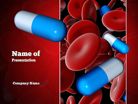 Medicine in Blood PowerPoint Template, 11031, Medical — PoweredTemplate.com