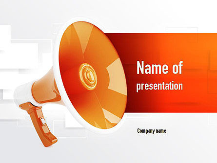 Public Relations PowerPoint Template, 11033, Careers/Industry — PoweredTemplate.com