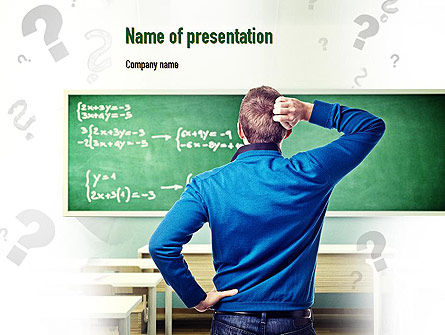 Solving Equation PowerPoint Template, 11034, Education & Training — PoweredTemplate.com