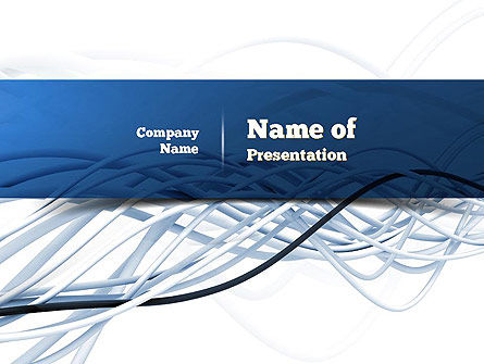 Telecommunication: Fiber-Optical Cables PowerPoint Template #11035