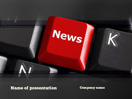 Careers/Industry: Online Newsletter PowerPoint Template #11038