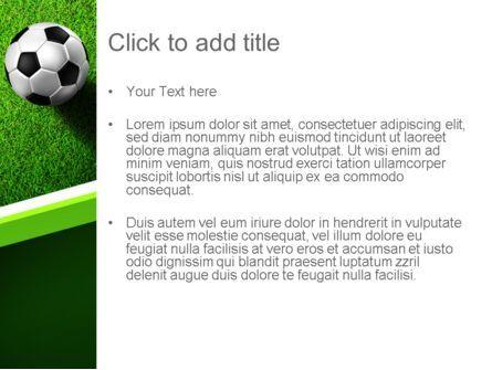 Soccer Ball Near Line PowerPoint Template, Slide 3, 11039, Sports — PoweredTemplate.com