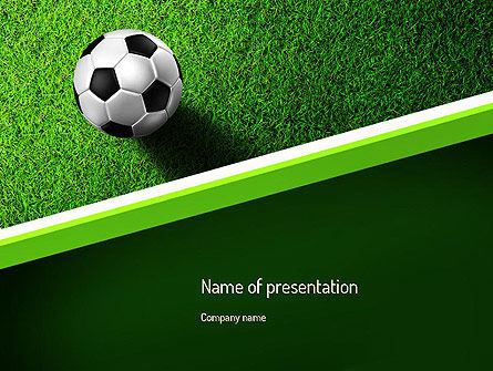 Soccer Ball Near Line PowerPoint Template, 11039, Sports — PoweredTemplate.com