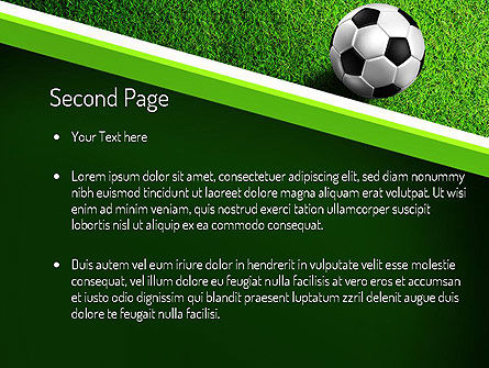 Soccer Ball Near Line PowerPoint Template, Slide 2, 11039, Sports — PoweredTemplate.com