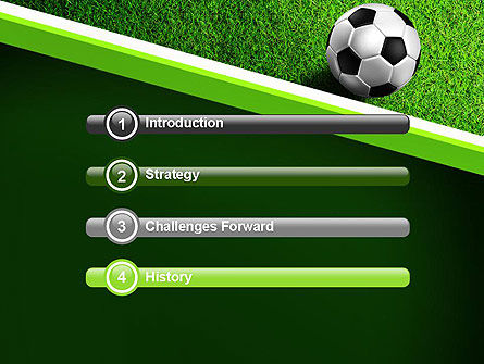 Soccer Ball Near Line PowerPoint Template, Slide 3, 11039, Sports — PoweredTemplate.com