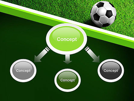 Soccer Ball Near Line PowerPoint Template, Slide 4, 11039, Sports — PoweredTemplate.com