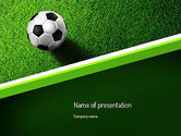 Sports: Soccer Ball Near Line PowerPoint Template #11039