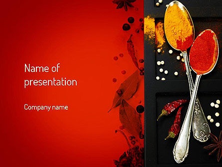 Food & Beverage: Bright Spices PowerPoint Template #11040