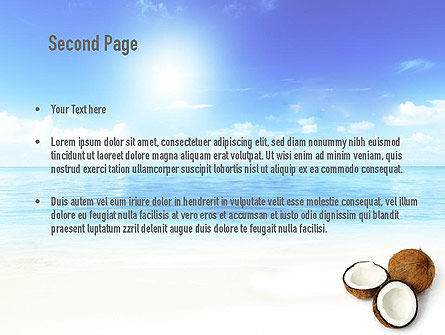 Coconut PowerPoint Template Slide 2