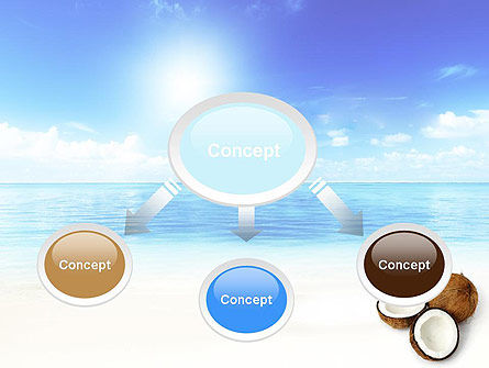 Coconut Powerpoint Template Backgrounds    PoweredtemplateCom