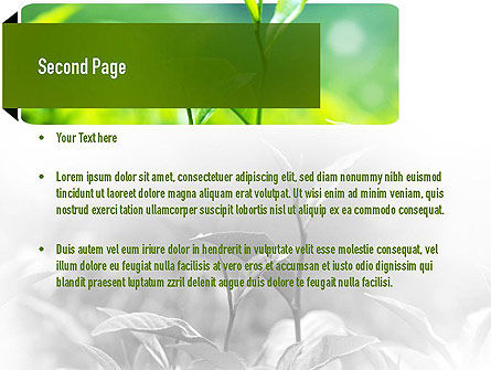 Green Presentation PowerPoint Template, Slide 2, 11044, Nature & Environment — PoweredTemplate.com