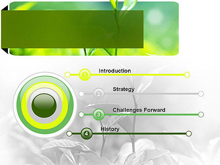 Green Presentation PowerPoint Template, Slide 3, 11044, Nature & Environment — PoweredTemplate.com