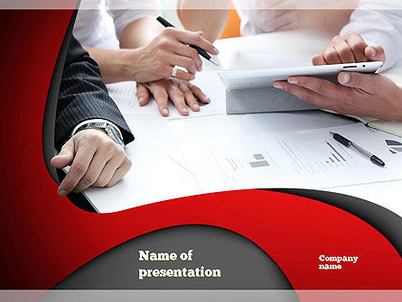 Working Process at Business Meeting PowerPoint Template
