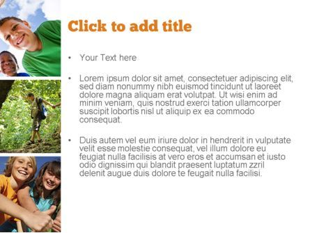 Summer Camp Fun PowerPoint Template, Slide 3, 11048, Education & Training — PoweredTemplate.com