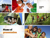 Education & Training: Summer Camp Fun PowerPoint Template #11048