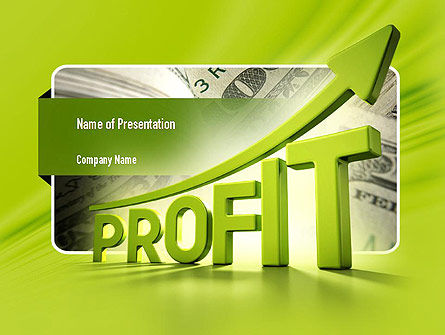 Business Concepts: Profit Growth PowerPoint Template #11049