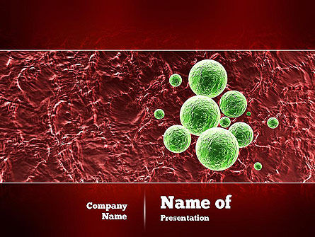Medical: Germ PowerPoint Template #11050
