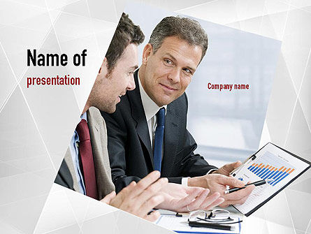 Financial/Accounting: Financial Manager PowerPoint Template #11051