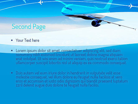 Airplane in the Sky PowerPoint Template Slide 2