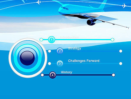 Airplane in the Sky PowerPoint Template Slide 3
