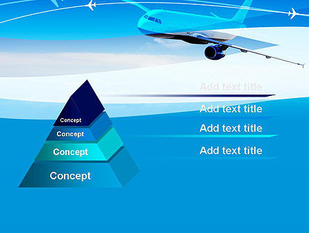 Airplane in the Sky PowerPoint Template Slide 4