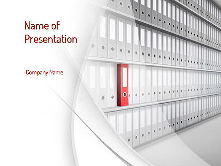 Archive Folder PowerPoint Template, 11053, Careers/Industry — PoweredTemplate.com