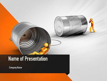 Reputation Management PowerPoint Template, 11054, Telecommunication — PoweredTemplate.com