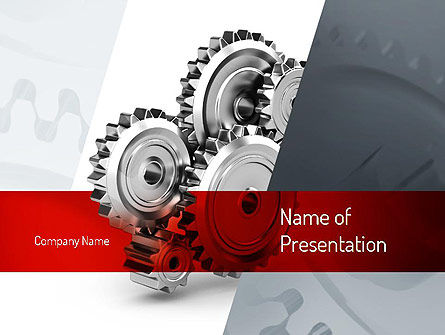 Perpetuum Mobile Gears Powerpoint Template Backgrounds 11055