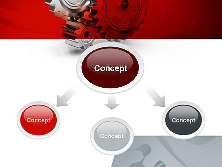 Perpetuum Mobile Gears PowerPoint Template, Slide 4, 11055, Construction — PoweredTemplate.com