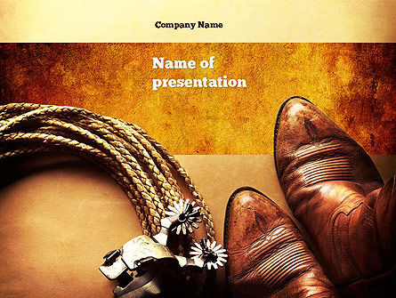 Cowboy theme powerpoint template backgrounds 11056 cowboy theme powerpoint template 11056 america poweredtemplate toneelgroepblik Image collections